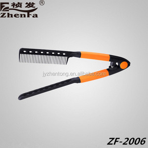 Chinese Factory Low Price Salon Professional Hair Straigntening Comb Plastic Comb ZF-2006