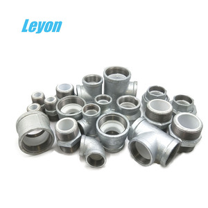GI elbow Pipe Fittings Names and parts Malleable Iron Fittings union