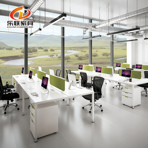 Foshan Used office furniture open office 6 person computer workstation