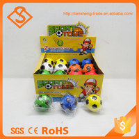 New design soft stress pu material colorful soccer pattern sport ball toy