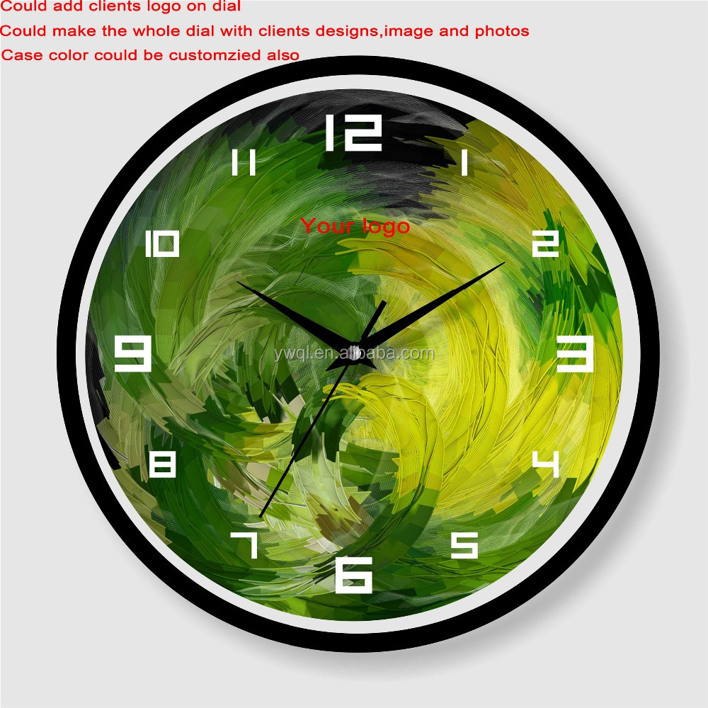Wholesale cheap price customized painting with analog wall clock themes
