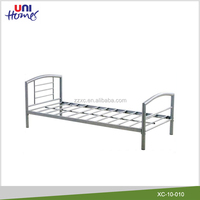 Cheap Metal Twin Size Bed in Silver