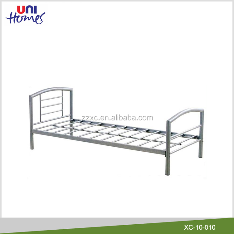 Wholesale Single Metal Bed Frame In Silver