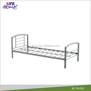 wholesale single metal bed frame in silver - Silver Metal Bed Frame