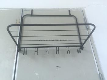 School Home Over Door Hanger Shelf With Hooks And Clothes Drying Rack