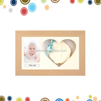 Unique gift handprints footprint keepsake clay kit baby photo frame