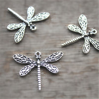 Dragonfly Charms, Antique Tibetan Silver Tone game of thrones dragonfly charms pendants 25mx30m