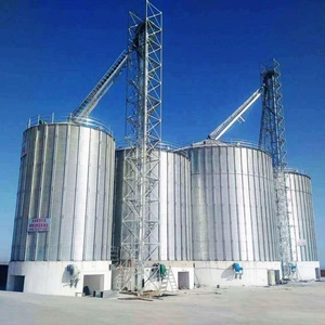 Long working life corrugated galvanized steel 1000 ton grain silo for sale