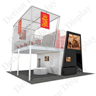 6m*6m three-side open double deck booth,modular exhibition stands system booth for trade show
