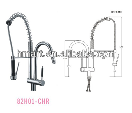 Brass Spring Kitchen Faucet/Faucets/Tap(82H01-CHR)