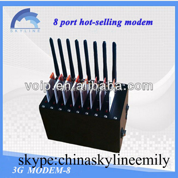 8 ports gsm modem for bulk sim support Echo cancellation and noise suppression