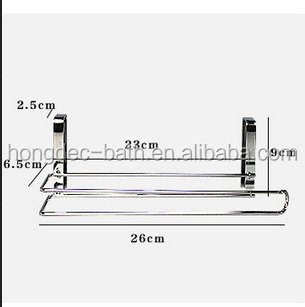 Home Improvement New Arrivial Kitchen Towel Holder Roll Paper Storage Rack Tissue Hanger Under Cabinet Door Ample Supply And Prompt Delivery Paper Holders