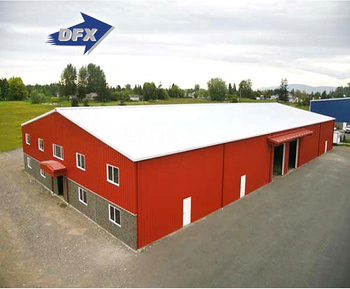 Fast Construction High Quality Double Slope Steel Structure Warehouse Or Workshop