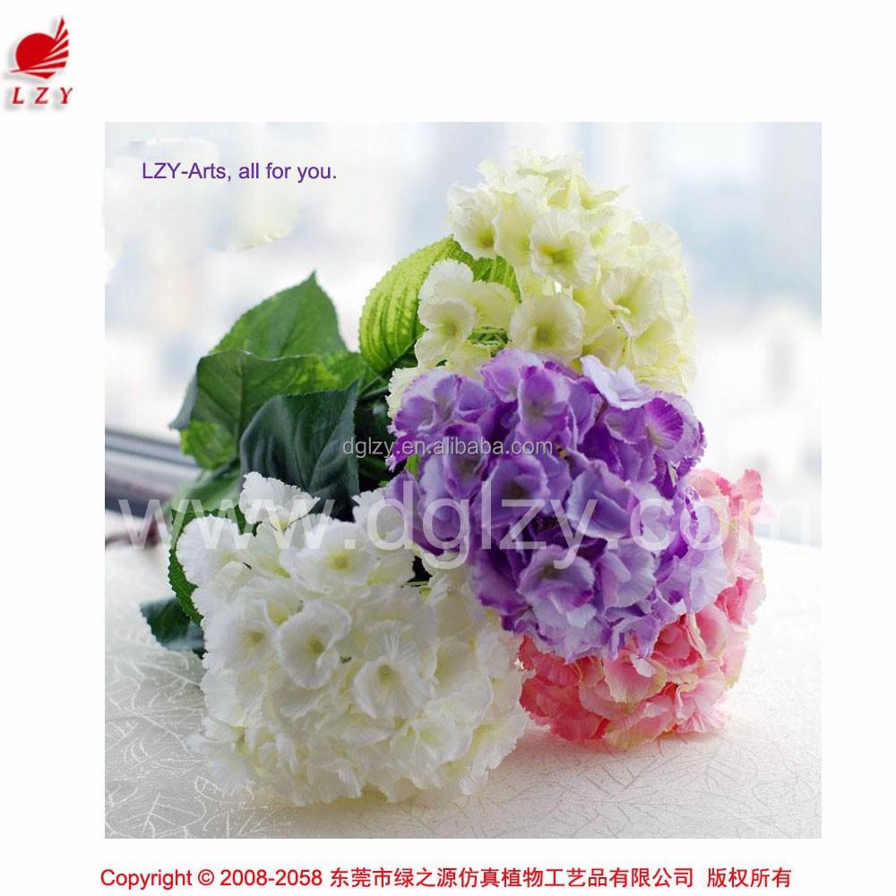 gros artificielle hortensia fleurs de mariage voiture dcoratifs fleurs bouquet de marie fleur dhortensia - Fleurs Lyophilises Mariage