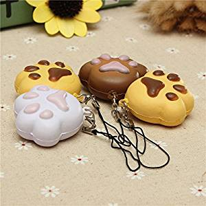CynKen 1pcs Kawaii Soft Cartoon Chain Bread Puppy Footprint Cell Phone Charm Straps Color Random