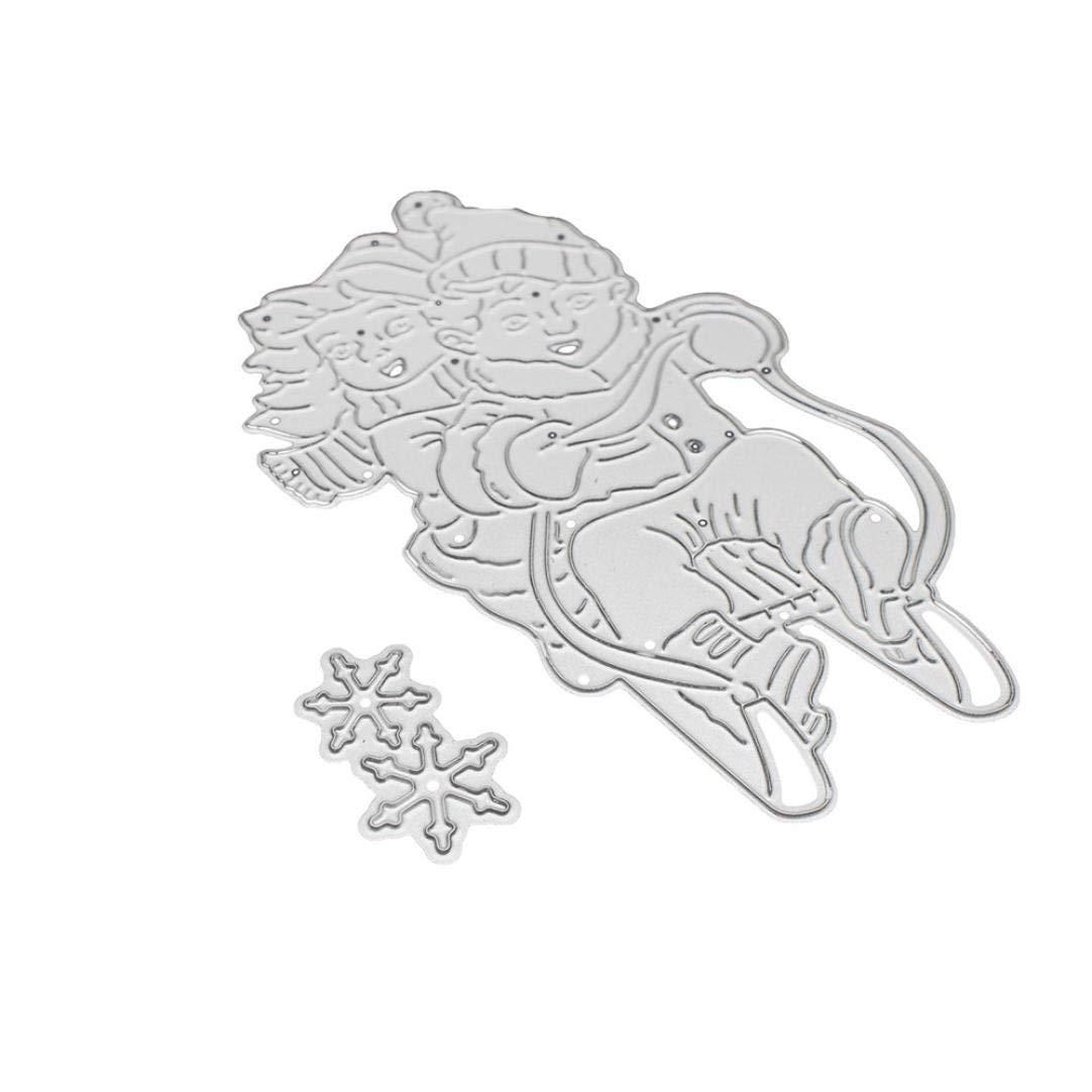 Lanhui_New!!! Merry Christmas Exquisite Metal Cutting Dies Stencils Scrapbooking Embossing DIY Crafts (J)
