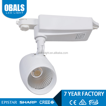 CE approved intelligent control spot system 25w rail cob led track light