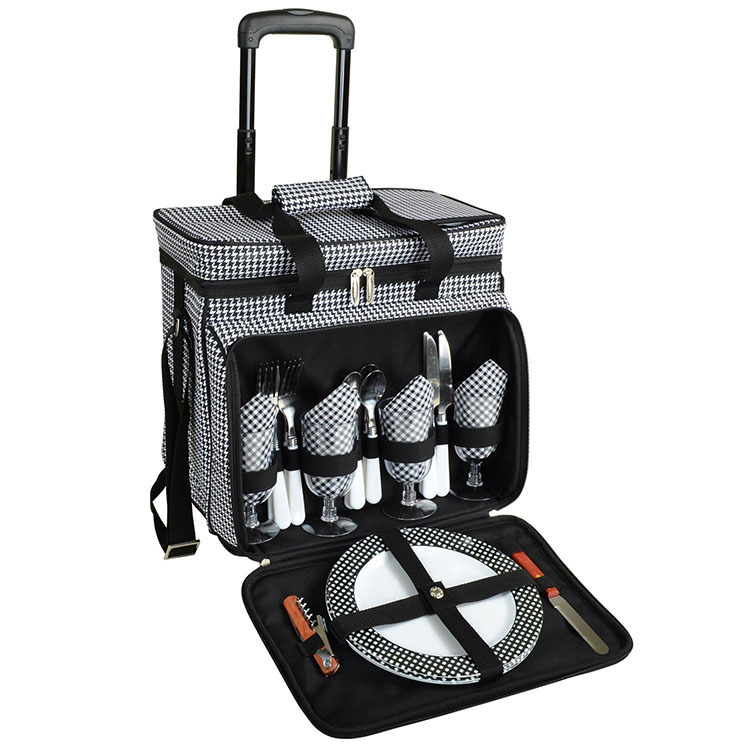 Fashion Outdoor Picnic Cooler Bag, Cooler Bag On Wheels, Cooler Bag With Wheels