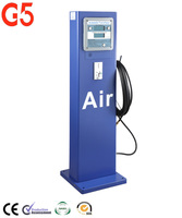 Freestanding Coin-Operated Electric Tyre Inflator Automatic Air Pump Diecast Air Filler Tyre Pressure Gauge Chuck Steel Cabinet