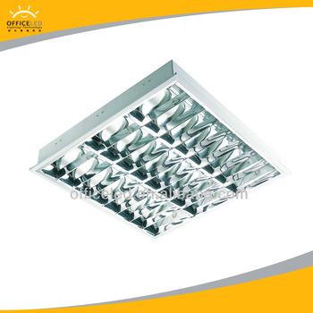 T5 3x14W Fluorescent Office Ceiling Light Fixture Troffer Grille Lamps Led  Lamps Factory Sales Credict Insurance
