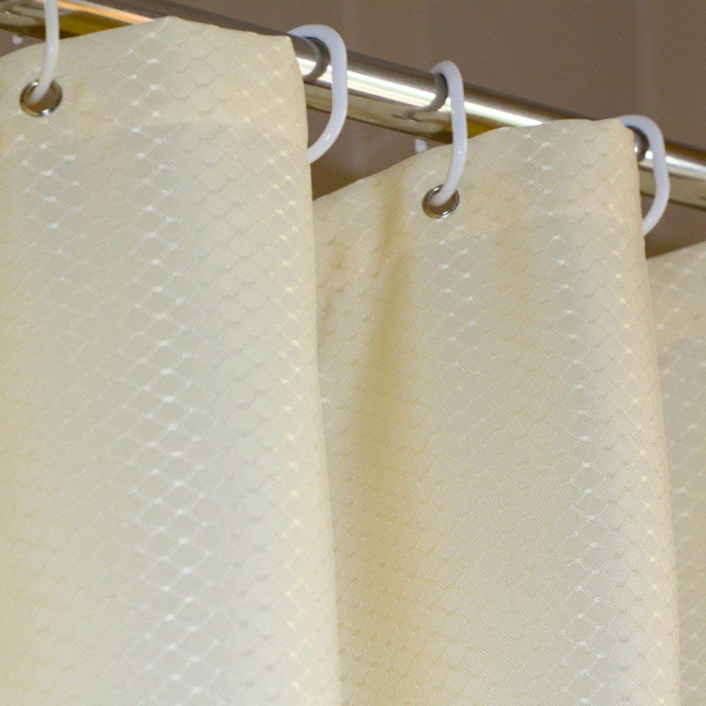 Get Quotations Extra Long 72 By 78 Inch Waffle Shower Curtain Fabric Mildew Free Bathroom