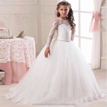 Latest children frocks birthday lace long sleeve a line flower girl latest children frocks birthday lace long sleeve a line flower girl dresses pattern kids party lf19 junglespirit Images
