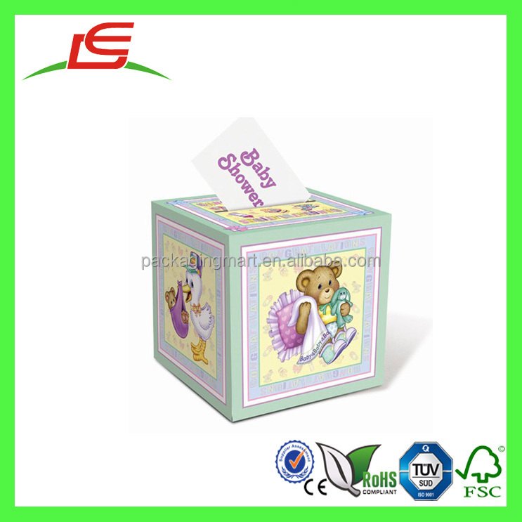 Q1368 Lovely Pretty Party Baby Shower Gifts Boxwishing Well Card