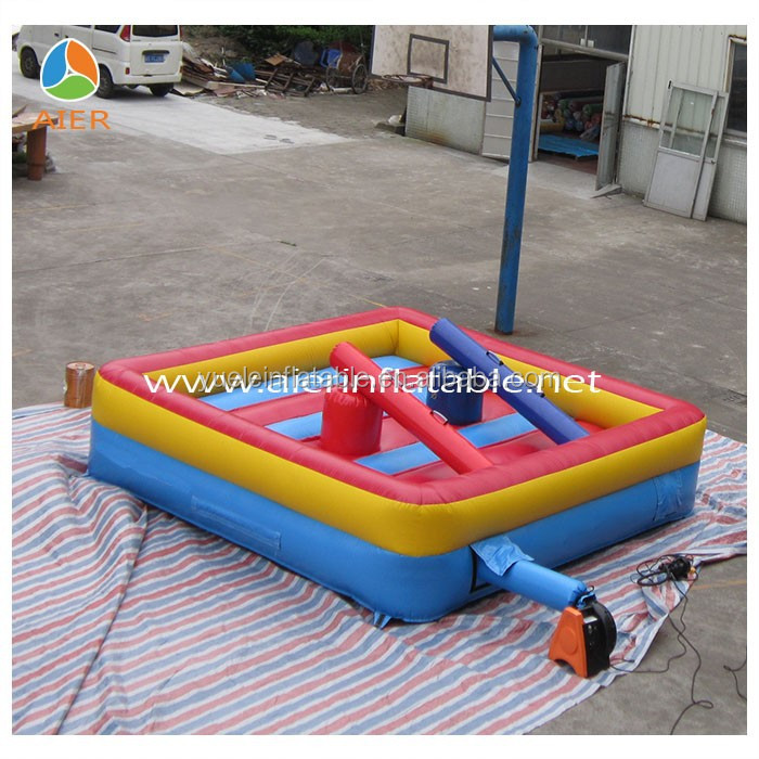 Inflatable jousting แหวน gladiator เกม/gladiator joust sticks สนุกเกม