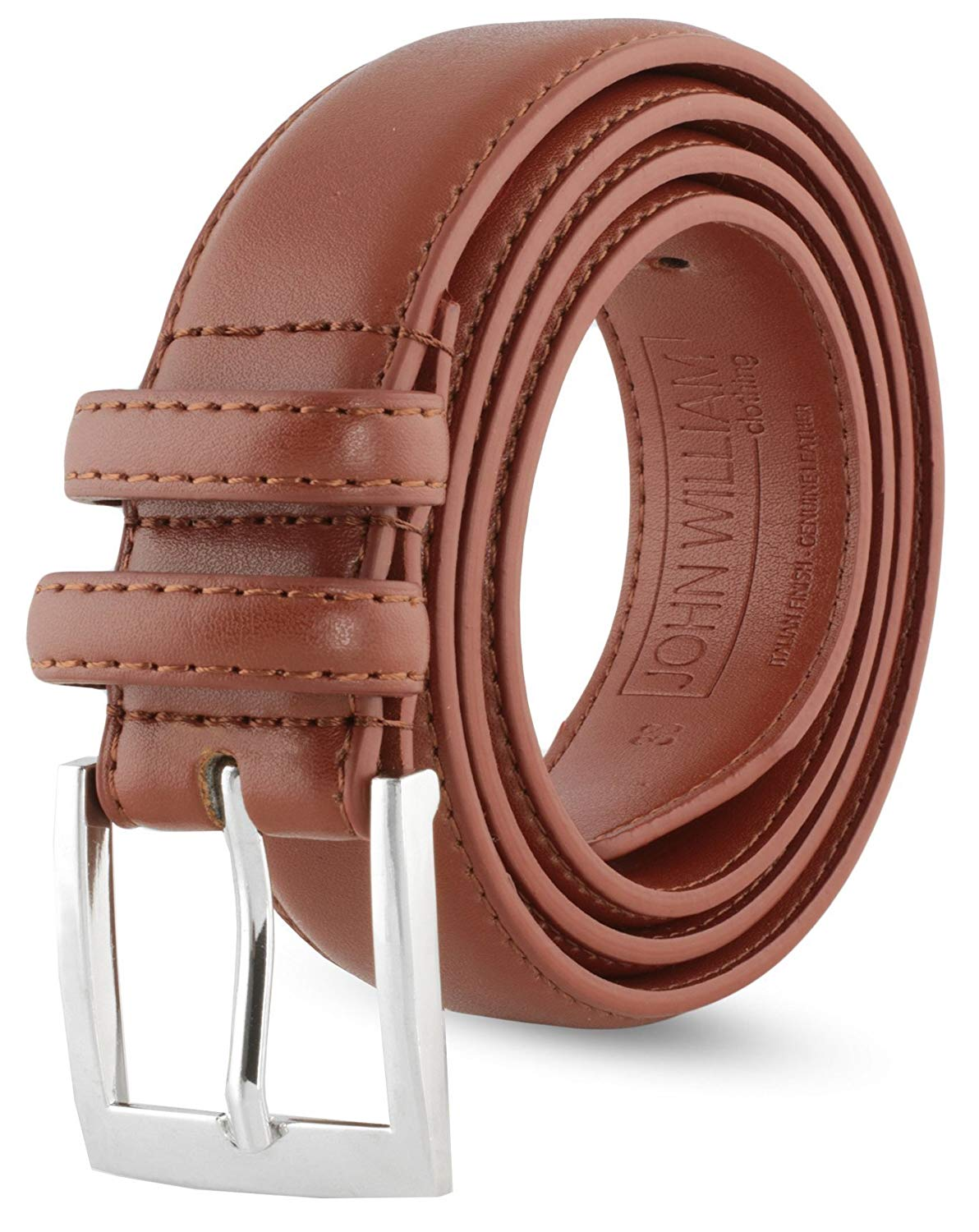 Get Quotations · Leather Belts For Men - Mens Brown   Black Belt - Dress  Casual Men s Belt in 40d35c9421f