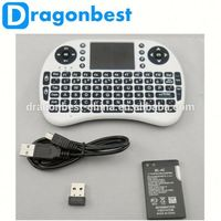 2.4G Mini i8 Wireless Keyboard Remote Controller Air Mouse With Touchpad Keyboards 92 Keys for for tv box tablet mini pc