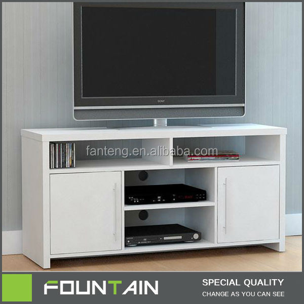 Wholesale Price LCD TV Stand Table Furniture White Wooden TV Unit Furniture
