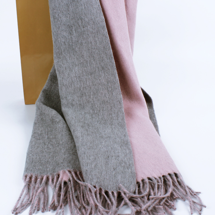 Heavy recommended luxury European grams cashmere scarf double-sided printing of pure cashmere shawls increased thickening
