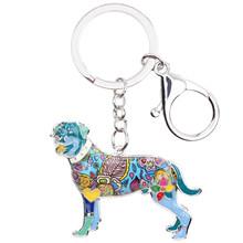 Bonsny эмаль Ротвейлер Собака брелок для ключей сувенирное кольцо подарок для женщин сумка Шарм Мода животное ювелирные изделия брелок аксесс...(Китай)