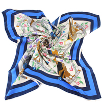 custom made digital printed on chinese 100% twill silk scarves