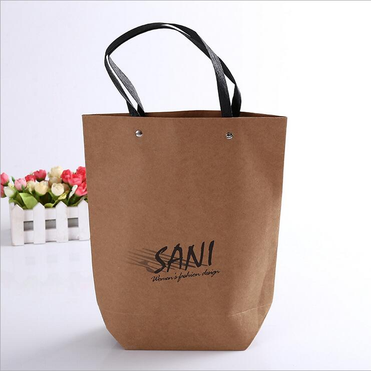 fashion OEM factory custom wholesale paper bag browm small for shopping