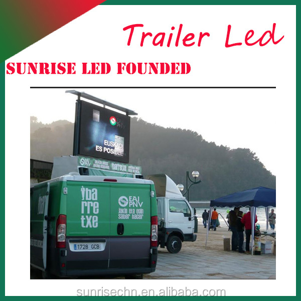 P5 outdoor Easy installation Europe certified mobile truck led tv screen for European market