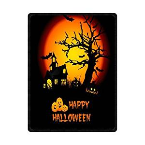 "Scottshop Custom High Quality Fleece Blankets 58"" x 80"" Inch, Design Happy Halloween Blanket, Fashion Warm Cozy Soft Sofa Bed Blankets Throws Blankets"
