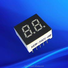 "amber 0.3"" dual digit 0.3 inch 7 segment led mini two digit display"