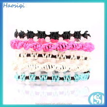 haosiqi 2016 wholesale the natural jade custom make braided leather bracelet with beads