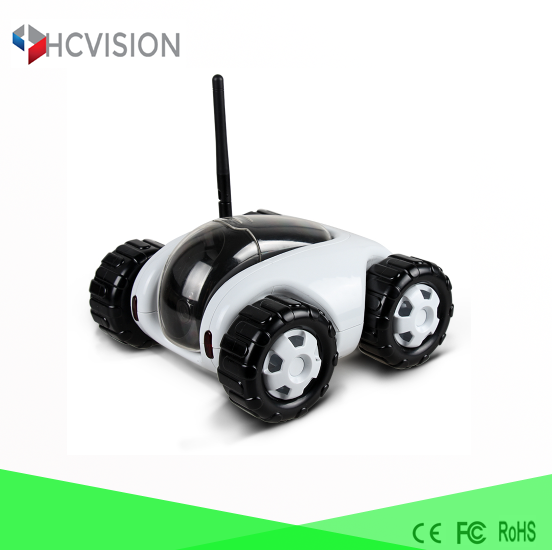 WIFI crawler camera for sale cctv robot ir night vision 360 pan tilt car camera battery powered