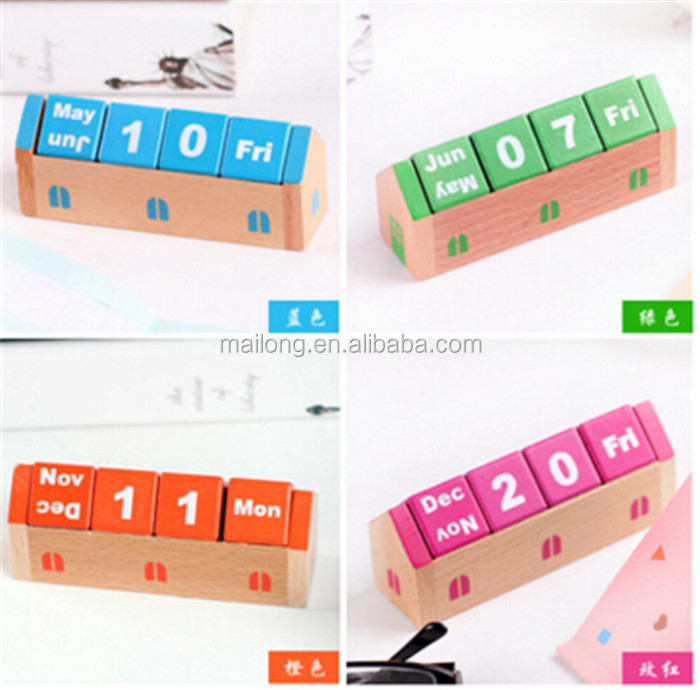 South Korea stationery wooden desk Calendar office household act the role ofing is tasted furnishing articles PN6245