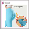 2017 spring new style candy color pants seamed tight leggings with real pockets