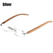 Очки для чтения SOOLALA, деревянные, бамбуковые, без оправы, для женщин и мужчин, диоптрии, увеличительные пресбиопические очки для чтения + 1,0, 1,5...(Китай)