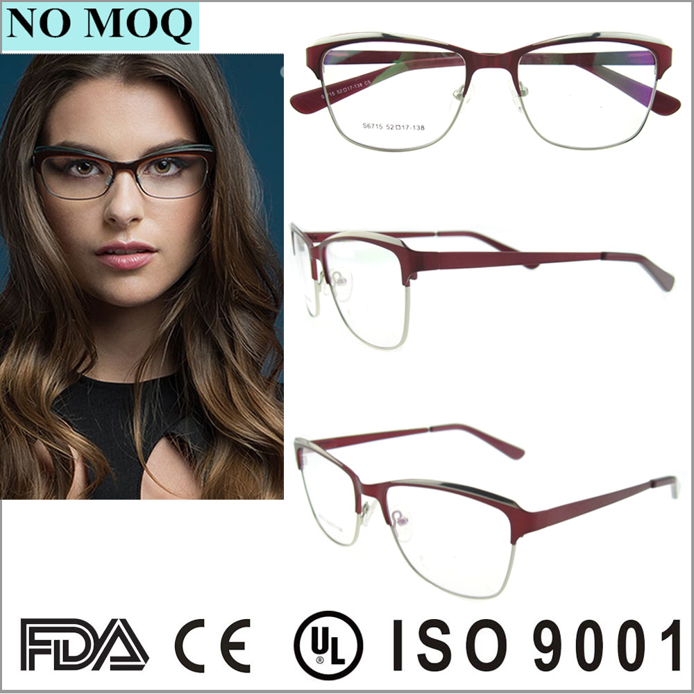 Últimas diseñador oval mitad-borde marcos de anteojos para hombres y ...