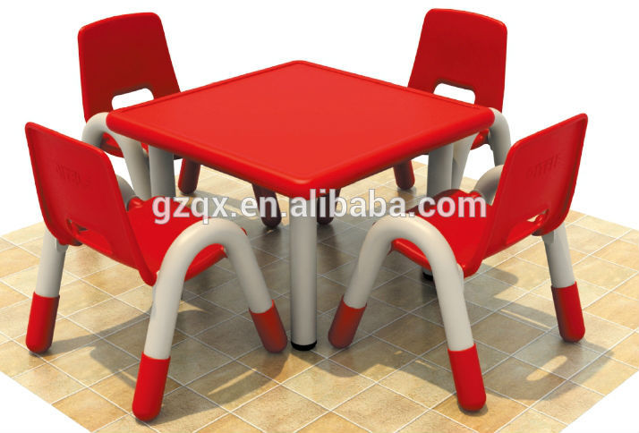 fcecafd79fd Fine Quality Rectangle 4-seat children table and chairs, children school  desk, kids