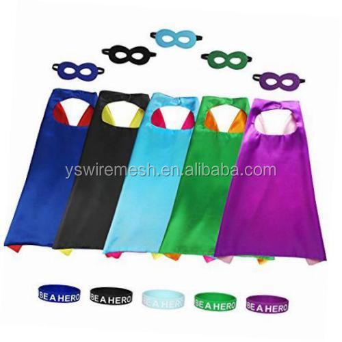 YS Superhero Cape and Mask Set Hero Costume kids birthday party favor