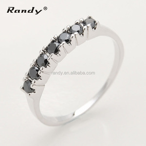 Fashion 925 Silver Ring With Black Stone Ring For Men,Rose Gold With Red Stone Ring