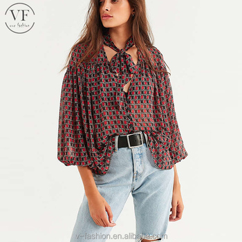 8eac6a73ae7 New Fashion Cheap Latest Design Chiffon Printed Ladies Tops Latest Design -  Buy Ladies Tops Latest Design,New Fashion Tops,Tops For Women 2017 Product  ...