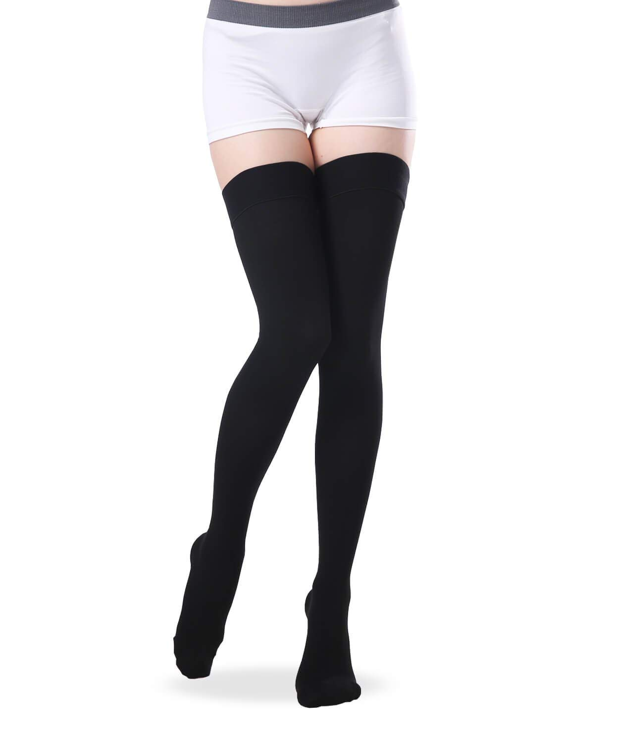 7b8dff873c1 Get Quotations · SWOLF Thigh High Closed Toe Compression Stockings