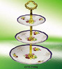 Ceramic porcelain cake stand 3 tiers fruit plate wholesale